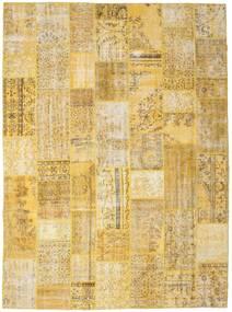 パッチワーク 絨毯 273X372 モダン 手織り 黄色/薄茶色 大きな (ウール, トルコ)