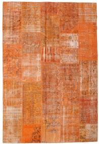 Patchwork Teppich  202X302 Echter Moderner Handgeknüpfter Orange/Hellbraun (Wolle, Türkei)