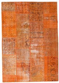 Patchwork Teppich  163X233 Echter Moderner Handgeknüpfter Orange/Hellbraun (Wolle, Türkei)