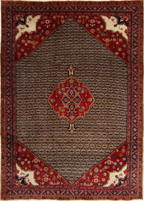 Koliai Vloerkleed 212X295 Echt Oosters Handgeknoopt Donkerrood/Donkerbruin (Wol, Perzië/Iran)