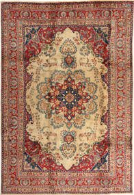 Mashad Rug 197X287 Authentic  Oriental Handknotted Light Brown/Dark Red (Wool, Persia/Iran)