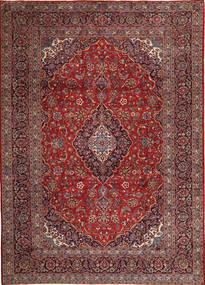 Keshan Rug 275X388 Authentic  Oriental Handknotted Dark Red/Brown Large (Wool, Persia/Iran)