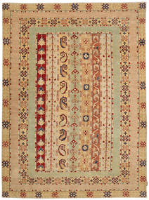 Ziegler Rug 210X280 Authentic  Oriental Handknotted Dark Beige/Brown (Wool, Pakistan)
