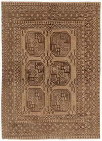 Afghan Rug 139X191 Authentic  Oriental Handknotted Brown (Wool, Afghanistan)