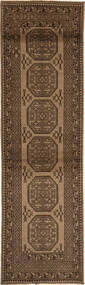 Afghan Natural Rug 84X294 Authentic  Oriental Handknotted Hallway Runner  Dark Brown/Light Brown/Brown (Wool, Afghanistan)