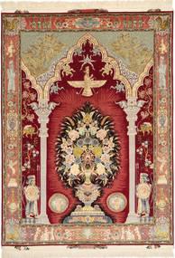 Tabriz#60 Raj silkesvarp matta AXVZC1081