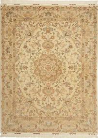 Tabriz#60 Raj 絹の縦糸 絨毯 AXVZC1121