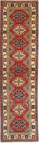 Kazak Tæppe 80X302 Ægte Orientalsk Håndknyttet Tæppeløber Lysebrun/Mørkerød (Uld, Pakistan)