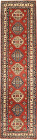 Kazak Rug 84X322 Authentic  Oriental Handknotted Hallway Runner  Rust Red/Light Brown (Wool, Pakistan)