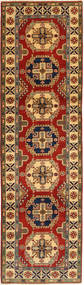 Kazak Rug 84X295 Authentic  Oriental Handknotted Hallway Runner  Light Brown/Dark Red (Wool, Pakistan)