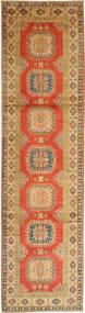 Kazak Matta 86X321 Äkta Orientalisk Handknuten Hallmatta Orange/Ljusbrun (Ull, Pakistan)