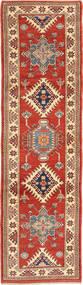 Kazak Rug 87X306 Authentic Oriental Handknotted Hallway Runner Rust Red/Light Brown (Wool, Pakistan)