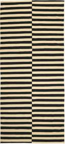 Kilim Modern Rug 162X368 Authentic  Modern Handknotted Hallway Runner  Black/Beige (Wool, Afghanistan)