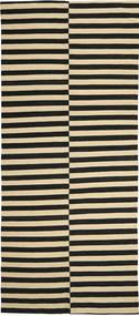 Kelim Moderni Matto 161X375 Moderni Käsinsolmittu Käytävämatto Musta/Keltainen (Villa, Afganistan)