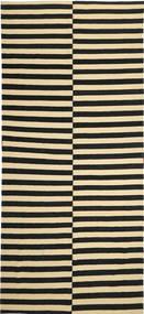 Kilim Modern Rug 173X380 Authentic  Modern Handknotted Hallway Runner  Black/Beige (Wool, Afghanistan)