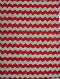 Kelim Moderni Matto 217X286 Moderni Käsinsolmittu Vaaleanharmaa/Punainen (Villa, Afganistan)