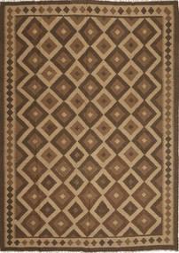 Kilim Maimane Dywan 210X295 Orientalny Tkany Ręcznie Jasnobrązowy/Brązowy/Ciemnobrązowy (Wełna, Afganistan)