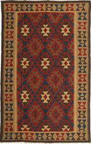 Kelim Maimane Koberec 158X249 Orientální Ruční Tkaní Světle Hnědá/Tmavě Červená/Tmavošedý (Vlna, Afghánistán)