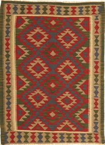Kelim Maimane Tæppe 103X146 Ægte Orientalsk Håndvævet Mørkerød/Lysebrun (Uld, Afghanistan)