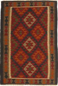 Kelim Maimane Tæppe 97X145 Ægte Orientalsk Håndvævet Mørkerød/Sort (Uld, Afghanistan)
