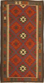Kelim Maimane Matto 102X196 Itämainen Käsinkudottu Tummanruskea/Ruoste (Villa, Afganistan)