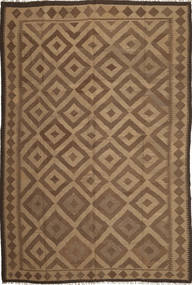 Kilim Maimane Rug 201X301 Authentic Oriental Handwoven Brown/Light Brown (Wool, Afghanistan)