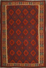 Kilim Maimane Rug 204X298 Authentic  Oriental Handwoven Rust Red/Dark Red (Wool, Afghanistan)