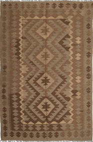 Kelim Maimane Matto 190X294 Itämainen Käsinkudottu Ruskea/Vaaleanruskea (Villa, Afganistan)