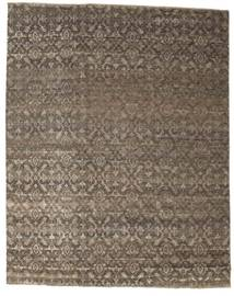 Damask Rug 235X297 Authentic  Modern Handknotted Light Brown/Brown ( India)