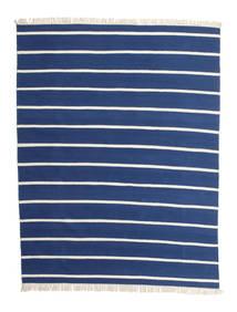 Dorri Stripe - Tummansininen Matto 200X250 Moderni Käsinkudottu Sininen/Beige (Villa, Intia)