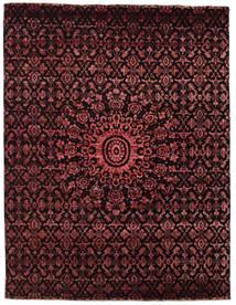 Damask Teppe 236X306 Ekte Moderne Håndknyttet Mørk Brun/Mørk Rød ( India)
