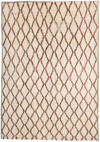Barchi/Moroccan Berber Rug 192X278 Authentic  Modern Handknotted Beige/Light Brown (Wool, Afghanistan)