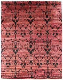 Damask Dywan 241X305 Nowoczesny Tkany Ręcznie Ciemnoczerwony/Rdzawy/Czerwony ( Indie)