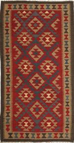 キリム マイマネ 絨毯 103X196 オリエンタル 手織り 錆色/薄茶色 (ウール, アフガニスタン)