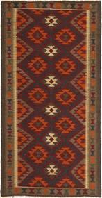 キリム マイマネ 絨毯 101X203 オリエンタル 手織り 濃い茶色/茶 (ウール, アフガニスタン)