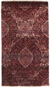 Damask Rug 93X166 Authentic  Modern Handknotted Dark Red/Dark Brown ( India)