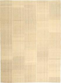 Kelim Moderni Matto 208X284 Moderni Käsinkudottu Keltainen/Tummanbeige/Beige (Villa, Persia/Iran)