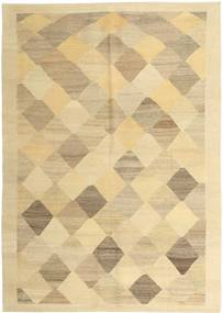 Kilim Modern Rug 170X243 Authentic  Modern Handwoven Dark Beige/Light Brown (Wool, Persia/Iran)