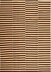 Kelim Moderni Matto 221X318 Moderni Käsinkudottu Vaaleanruskea/Tummanpunainen (Puuvilla, Persia/Iran)