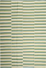 キリム モダン 絨毯 222X328 モダン 手織り ベージュ/ライトグリーン/パステルグリーン (綿, ペルシャ/イラン)