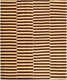Kilim Modern Rug 222X265 Authentic  Modern Handwoven Dark Brown/Light Brown (Cotton, Persia/Iran)