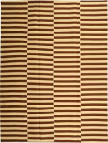 Kilim Moderne Tapis 230X310 Moderne Tissé À La Main Marron Foncé/Beige Foncé (Coton, Perse/Iran)