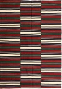 Kilim Modern Rug 170X244 Authentic  Modern Handwoven Dark Grey/Dark Red (Cotton, Persia/Iran)
