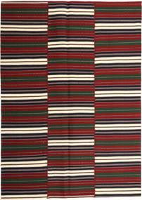 Kelim Moderni Matto 169X246 Moderni Käsinkudottu Tummanharmaa/Tummanpunainen (Puuvilla, Persia/Iran)