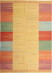 キリム モダン 絨毯 224X313 モダン 手織り 薄茶色/オレンジ (ウール, ペルシャ/イラン)