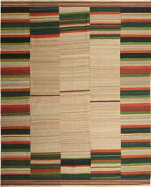 Kilim Modern Rug 275X344 Authentic  Modern Handwoven Light Brown/Brown/Dark Green Large (Wool, Persia/Iran)