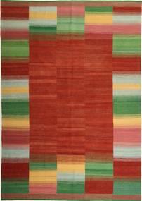 Kilim Modern Szőnyeg 245X349 Modern Kézi Szövésű Rozsdaszín/Sötétzöld (Gyapjú, Perzsia/Irán)