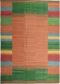 Kilim Modern Rug 251X351 Authentic  Modern Handwoven Light Brown/Dark Green Large (Wool, Persia/Iran)