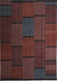 Kelim Moderni Matto 210X298 Moderni Käsinkudottu Tummanruskea/Tummanpunainen (Villa, Persia/Iran)