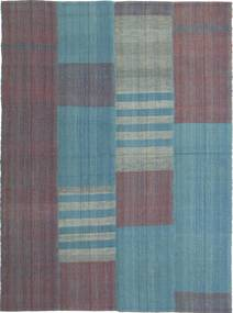 Kilim Modern Rug 166X227 Authentic  Modern Handwoven Dark Grey/Light Grey (Wool, Persia/Iran)